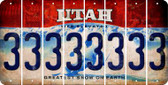 Utah 3 Cut License Plate Strips (Set of 8) LPS-UT1-030