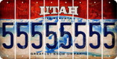 Utah 5 Cut License Plate Strips (Set of 8) LPS-UT1-032