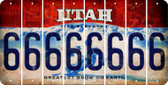 Utah 6 Cut License Plate Strips (Set of 8) LPS-UT1-033