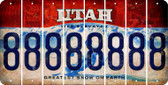 Utah 8 Cut License Plate Strips (Set of 8) LPS-UT1-035