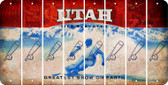 Utah BASEBALL WITH BAT Cut License Plate Strips (Set of 8) LPS-UT1-057