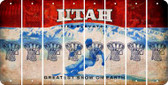 Utah BASKETBALL HOOP Cut License Plate Strips (Set of 8) LPS-UT1-058