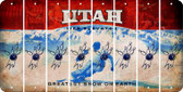Utah BOWLING Cut License Plate Strips (Set of 8) LPS-UT1-059