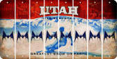 Utah BAT Cut License Plate Strips (Set of 8) LPS-UT1-074