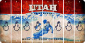 Utah MIDDLE FINGER Cut License Plate Strips (Set of 8) LPS-UT1-091