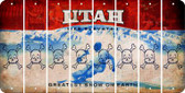 Utah SKULL Cut License Plate Strips (Set of 8) LPS-UT1-092