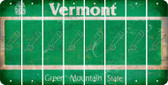 Vermont BASEBALL WITH BAT Cut License Plate Strips (Set of 8) LPS-VT1-057