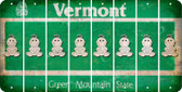 Vermont BABY GIRL Cut License Plate Strips (Set of 8) LPS-VT1-067