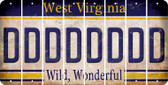 West Virginia D Cut License Plate Strips (Set of 8) LPS-WV1-004