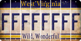 West Virginia F Cut License Plate Strips (Set of 8) LPS-WV1-006
