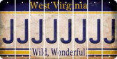 West Virginia J Cut License Plate Strips (Set of 8) LPS-WV1-010