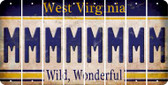 West Virginia M Cut License Plate Strips (Set of 8) LPS-WV1-013