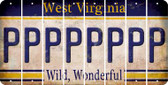 West Virginia P Cut License Plate Strips (Set of 8) LPS-WV1-016
