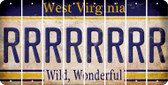 West Virginia R Cut License Plate Strips (Set of 8) LPS-WV1-018