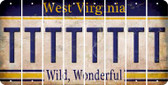 West Virginia T Cut License Plate Strips (Set of 8) LPS-WV1-020