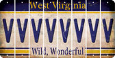 West Virginia V Cut License Plate Strips (Set of 8) LPS-WV1-022