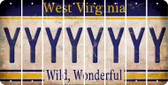West Virginia Y Cut License Plate Strips (Set of 8) LPS-WV1-025
