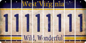 West Virginia 1 Cut License Plate Strips (Set of 8) LPS-WV1-028