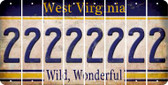 West Virginia 2 Cut License Plate Strips (Set of 8) LPS-WV1-029
