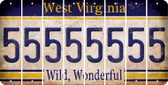 West Virginia 5 Cut License Plate Strips (Set of 8) LPS-WV1-032