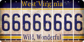 West Virginia 6 Cut License Plate Strips (Set of 8) LPS-WV1-033