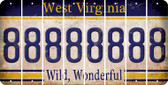 West Virginia 8 Cut License Plate Strips (Set of 8) LPS-WV1-035