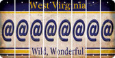 West Virginia ASPERAND Cut License Plate Strips (Set of 8) LPS-WV1-039