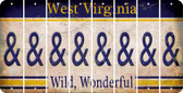 West Virginia AMPERSAND Cut License Plate Strips (Set of 8) LPS-WV1-049