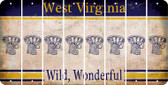 West Virginia BASKETBALL HOOP Cut License Plate Strips (Set of 8) LPS-WV1-058