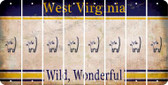 West Virginia CAT Cut License Plate Strips (Set of 8) LPS-WV1-072