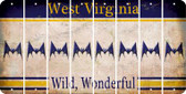 West Virginia BAT Cut License Plate Strips (Set of 8) LPS-WV1-074
