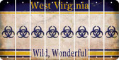 West Virginia BIO HAZARD Cut License Plate Strips (Set of 8) LPS-WV1-084