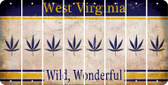 West Virginia POT LEAF Cut License Plate Strips (Set of 8) LPS-WV1-090
