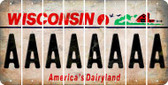Wisconsin A Cut License Plate Strips (Set of 8) LPS-WI1-001