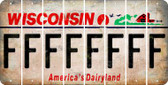 Wisconsin F Cut License Plate Strips (Set of 8) LPS-WI1-006