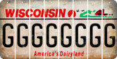 Wisconsin G Cut License Plate Strips (Set of 8) LPS-WI1-007