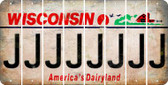 Wisconsin J Cut License Plate Strips (Set of 8) LPS-WI1-010
