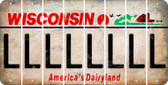 Wisconsin L Cut License Plate Strips (Set of 8) LPS-WI1-012