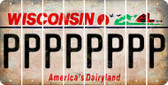 Wisconsin P Cut License Plate Strips (Set of 8) LPS-WI1-016