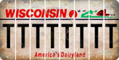 Wisconsin T Cut License Plate Strips (Set of 8) LPS-WI1-020