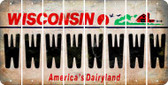 Wisconsin W Cut License Plate Strips (Set of 8) LPS-WI1-023