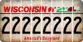 Wisconsin 2 Cut License Plate Strips (Set of 8) LPS-WI1-029