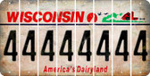 Wisconsin 4 Cut License Plate Strips (Set of 8) LPS-WI1-031