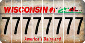 Wisconsin 7 Cut License Plate Strips (Set of 8) LPS-WI1-034