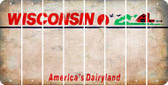Wisconsin BLANK Cut License Plate Strips (Set of 8) LPS-WI1-037