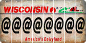 Wisconsin ASPERAND Cut License Plate Strips (Set of 8) LPS-WI1-039