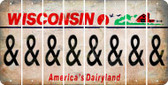 Wisconsin AMPERSAND Cut License Plate Strips (Set of 8) LPS-WI1-049
