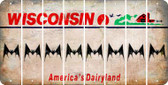 Wisconsin BAT Cut License Plate Strips (Set of 8) LPS-WI1-074