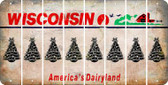Wisconsin CHRISTMAS TREE Cut License Plate Strips (Set of 8) LPS-WI1-077