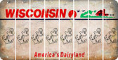 Wisconsin ANCHOR Cut License Plate Strips (Set of 8) LPS-WI1-093